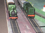 green steam and diesel locos