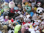 Pile of soft toys